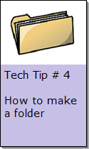 How to make a folder