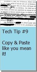 Copy and Paste in Word