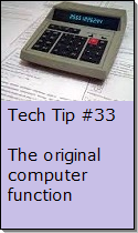 Using your computer as a calculator