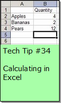 Calculating in Excel