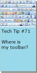 Tool Bars in Word