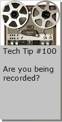 Are you being recorded?