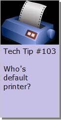 Setting your default printer