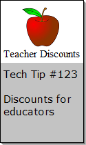 Discounts for educators and teachers