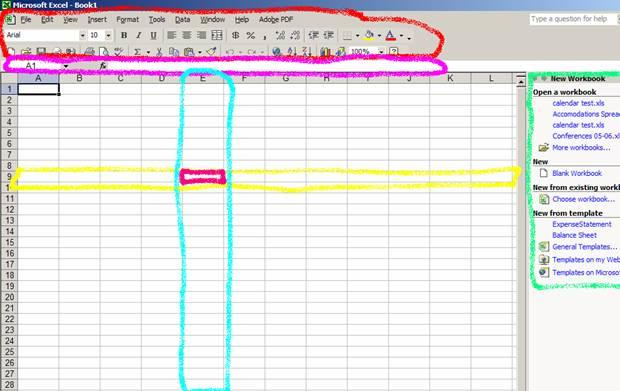 The Layout Of Ms Excel