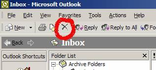 outlook delete