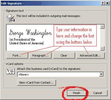 Making a signature in Outlook