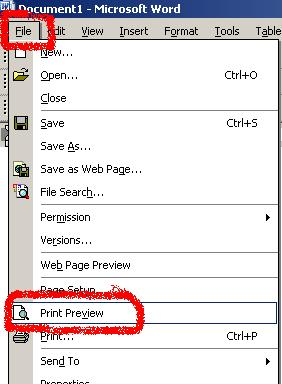 Print Preview in XP
