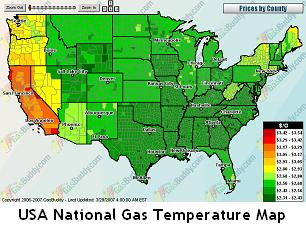 Finding Cheap Gas Prices Online - Us gas price map