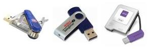 More sample USB drives